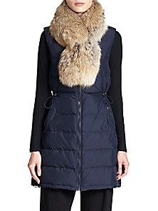 Theory - Womira Fur-Collar Down Puffer Vest