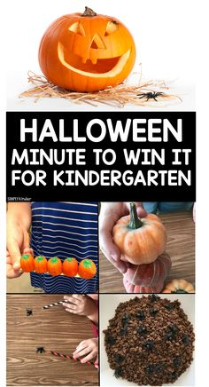 Halloween Minute to win it for kindergarten