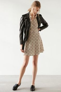 Kimchi Blue Rosebud Fit + Flare Shirt Dress - Urban Outfitters