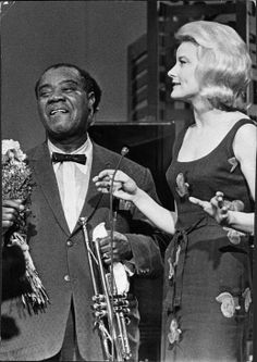 Louis Armstrong and Monica Zetterlund (Swedish jazzz singer and actress)