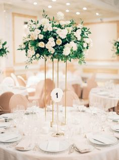 Ideas For Wedding Table Greenery Garland Tall Wedding Centerpieces, Flower Centerpieces, Table Centerpieces, Flower Decorations, Wedding Decorations, Wedding Table Centres, Wedding Table Flowers, Floral Wedding, Rustic Wedding