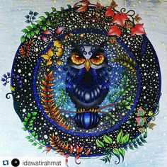 Instagram media desenhoscolorir - Pára tudoo, que coruja divina! By  @idawatirahmat  #florestaencantada  #desenhoscolorir #enchantedforest  #johannabasford  #owl #jardimsecreto