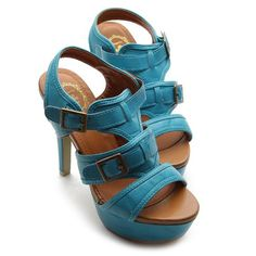 #Shoes - Ollio Womens Shoes Ankle-Strap Platforms Buckle Accent High Heels Sandals [Buy New: $24.99 (On sale from $27.99)]