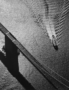 Ansel Adams  San Francisco Bay — Bridge, Pier, Ferry Boat, 1954