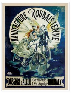 Poster: Fairy and Vintage Bike | Timbiketu