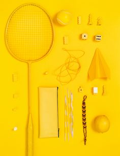 Play With Color Yellow objects arranged neatly -- photography styling. Yellow Theme, Yellow Art, Yellow Walls, Mellow Yellow, Color Yellow, Rainbow Aesthetic, Aesthetic Colors, Aesthetic Yellow, Colour Board