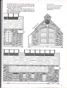 Railroad Building Plans | Railway & lineside buildings:Plans, dimensions, drawings - Card ...