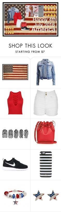 """""""Happy Independence Day!!!!! """" by bunnykins2001 on Polyvore featuring Pottery Barn, VILA, Jane Norman, Korres, Mansur Gavriel, NIKE, Kate Spade and Bling Jewelry"""