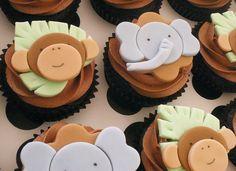 Safari Baby Shower - Monkeys & Elephants by CupCakeBite/Cup Cake Pantry, via Flickr