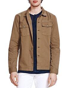 The Kooples Military Denim Jacket