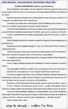 AMIGA DA EDUCAÇÃO.: MÁRIO MARINHEIRO - HISTÓRIA COM DOBRADURAS.
