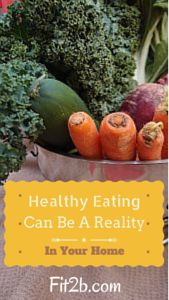 Healthy Eating Can Be a Reality in Your Home - Fit2b.com