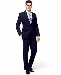 Calvin Klein Suit Separates 100% Wool Slim Fit - Suits & Suit Separates - Men - Macy's