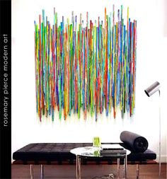 colorful reclaimed wood art