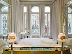 The sexiest suites in the world PALAZZINAG, VENICE The PalazzinaG boasts what are perhaps the sexiest suites in the whole city – neutral tones of cream and gold, masked lamps, mirrors a-plenty and – most importantly – views of the canal from the bed.