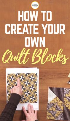 Carolyn Beam shows you how to make your own designer blocks. You will learn how combine two blocks from two different four patch patterns to make your own designer block. Then see how she uses her quilting software to see how the new designs look on an actual quilt.