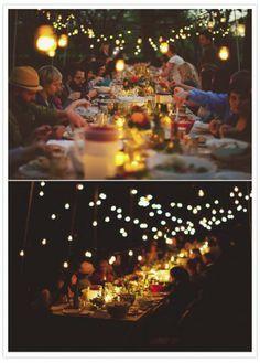Romantisch en gezellig voor een groot tuinfeest in de zomer.