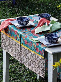 Novo conceito em toalhas de mesa