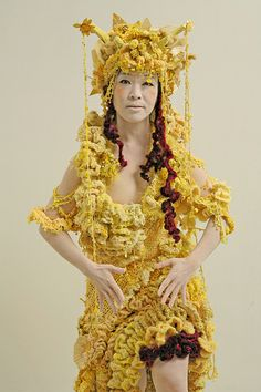 "Freeform crochet costume from the film "" The Silvering Path"""