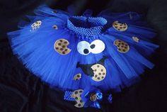 Krümelmonster Kostüm selber machen - Tutu