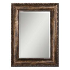 Uttermost Leola Antiqued Bronze & Gold Wall Mirror - 35.75W x 47.75H in. - Mirrors at Hayneedle