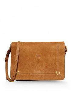 Jerome Dreyfuss Chestnut Leather Bag - Shop more chic suede looks at ShopBazaar.com http://shop.harpersbazaar.com/new-arrivals/trending-now/