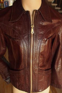 East West Musical Instruments brown leather jacket (eBay)