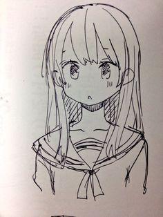 埋め込み anime sketch, manga drawing, manga art, my drawings, anime girl drawings Easy Chibi Drawings, Easy Drawings Sketches, Anime Drawings Sketches, Anime Sketch, Sketch Drawing, Drawing Tips, Drawing Ideas, Manga Girl Drawing, Mouth Drawing
