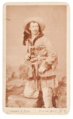Western hero and scout, Texas Jack Omohundro, c. 1875. Close friend of Buffalo Bill Cody.