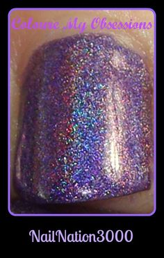 This is a polish made to help raise awareness of Chiari Surviors http://colouremyobsessions.blogspot.in/2014/10/chiari-survivors-rock-by-nailnation3000.html #colouremyobsessions #hpbloggers   #Obsessionista's #indies  #nailporn #bblogger #beautybloggers #beautyproducts #fashion #nails #swatches #beautyporn #holo #shifter #shifting #purple #Rainbowholo #color #coloure #nailnation3000 #nn3 #Nailnation3000 #nn3