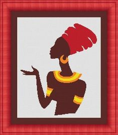 AFRICAN WOMAN / africaines femmes -Counted cross stitch pattern /grille point de croix ,Cross Stitch PDF, Instant download , free shipping