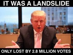 Donald Trump, meanwhile, is losing the popular vote by a much bigger margin than any other president in history.  However, the Republican will still become President because of Russian influence in the election and corruption of the republican head of the FBI who refused to investigate any Russian misconduct.