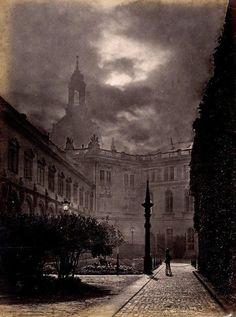 F. Edlich, Dresden Castle at Night, 1870's