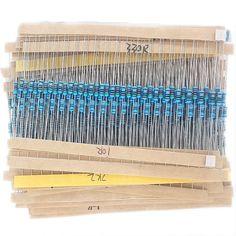 99002 600 Cái 30 Loại Mỗi Giá Trị Kim Loại gói Điện Trở Bộ Phim 1/4 Wát 1% điện trở các loại Kit Set