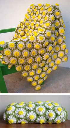 vintage daisy throw