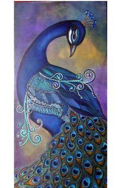 Passaro pinturas en 2019 Peacock art Colorful drawings y Bird art Peacock Decor, Peacock Colors, Peacock Bird, Peacock Feathers, Peacock Bedroom, Peacock Print, Peacock Design, Bedroom Colors, Bright Colors