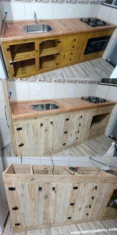 Ideas nuevas y únicas de la cocina de la plataforma de madera