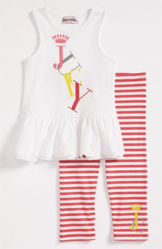 Juicy Couture Tank & Leggings (Infant) available at Baby Shower List, Cotton Leggings, Stripes Fashion, Best Brand, Juicy Couture, Infant, Girl Outfits, Nordstrom, Tank Tops