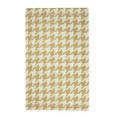 Home Decorators Collection Houndstooth Beige 5 ft. x 8 ft. Area Rug-0166920810 at The Home Depot