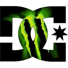 Sticker et autocollant DC Shoes Monster energy ...