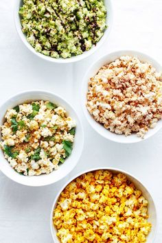 Popcorn, Four Ways learn how to pop the perfect popcorn every time, including non-GMO popcorn in matcha dark chocolate, dairy free cheese, and cinnamon. Vegan Snacks, Healthy Snacks, Vegan Recipes, Snack Recipes, Healthy Eating, Perfect Popcorn, Popcorn Recipes, Vegan Popcorn, Popcorn Toppings