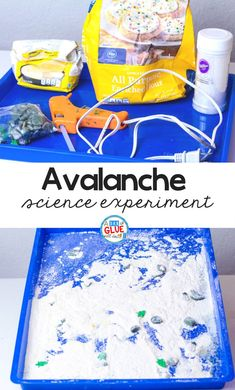 This Avalanche Experiment helps our students to understand how avalanches occur and the science behind them in a hands-on way. #scienceexperiments #science #winterscience