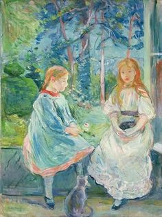 'Young Girls at the Window' by Berthe Morisot