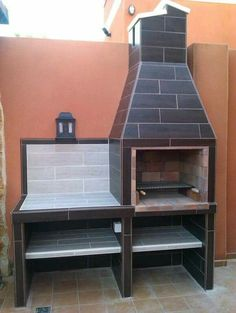 Asador cafe Design Barbecue, Grill Design, Barbecue Grill, Outdoor Barbeque, Outdoor Kitchen Patio, Outdoor Kitchen Design, Backyard Patio, Parrilla Exterior, Brick Grill