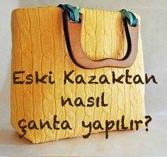 Kazaktan Çanta Yapımı - Women's style: Patterns of sustainability Quilt Making, Bag Making, Popular Bags, Basket Bag, Patchwork Bags, Sweater Fashion, Fashion Fashion, Handmade Bags, Hand Sewing