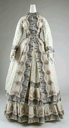 1870 American morning dress.
