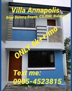 MURANG BAHAY AT LUPA  Only 6k++/month  Villa Annapolis Brgy Dulong Bayan, City of San Jose del Monte Bulacan Near Sapang Palay / Sampol Market  VILLA ANNAPOLIS is a horizontal economic housing project in an 8hectare property in the City of San Jose del Monte, Bulacan. The subdivision will be the home to at least 1,000 families living together in an eco-friendly and secured community.  Amenities:  ~Entrance Gate w/ guardhouse ~Water System (San Jose Water District) ~Power Supply (Meralco)…