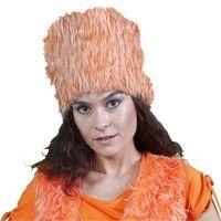 Prachtige Poolse bontmuts, maar dan wel in oranje natuurlijk.   Afmeting: volgt later.. - Bontmuts holland