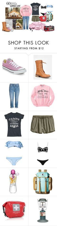 """60-Second Style: Summer Camp"" by orietta-rose on Polyvore featuring West Elm, Converse, Nature Breeze, Lisa Marie Fernandez, South Beach, Poler, Coleman, Victoria's Secret, summercamp and 60secondstyle"