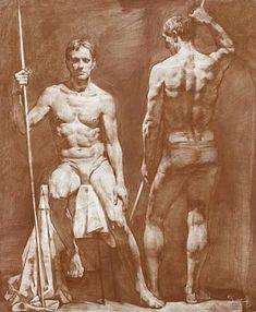 Фотография Male Figure Drawing, Figure Sketching, Guy Drawing, Life Drawing, Anatomy Sketches, Art Sketches, Art Drawings, Sketch Painting, Figure Painting